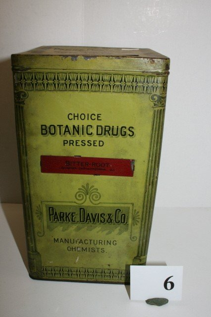 "6: 9 1/4"" Parke Davis & Co. Tin Chemical Box"