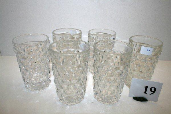 19: 6 Fostoria American Juice Glasses