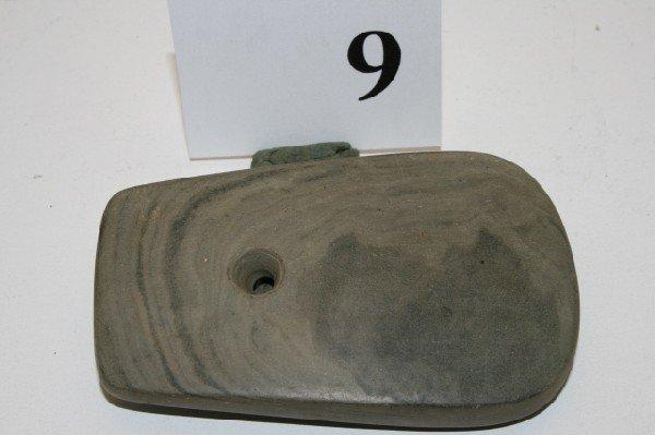 9: Banded Slate Keyhole Pendant