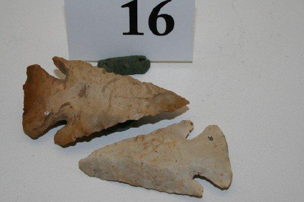 16: Two Flint Ridge Archaic Bevels