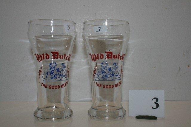 3: (2)  Old Dutch Beer Glasses