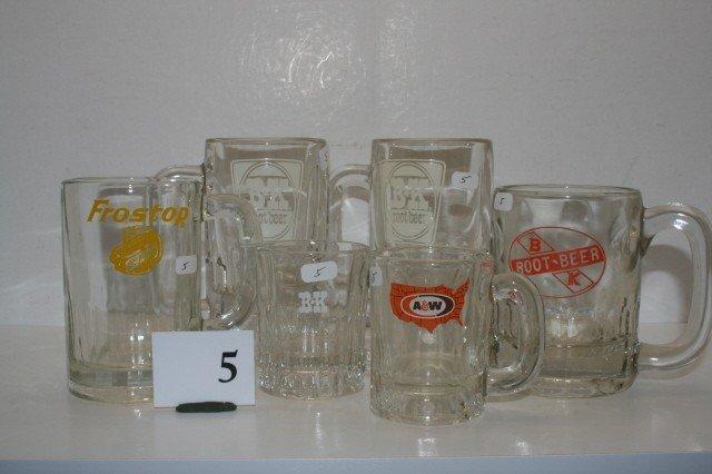 5: (6) Findlay Root Beer Mugs
