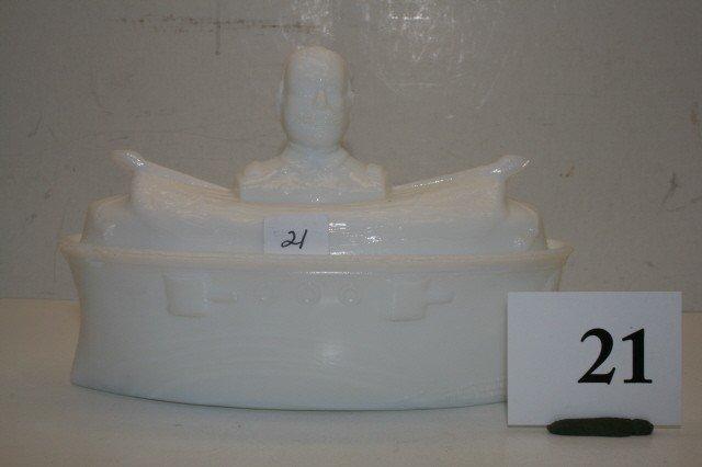 21: Milk Glass Covered Dish