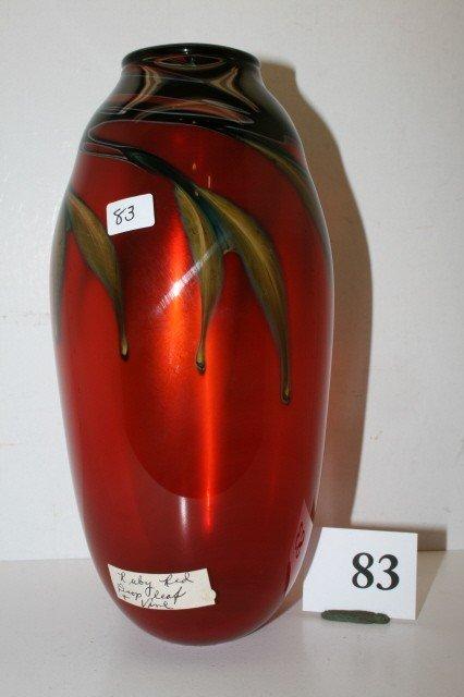 83: Ruby Red Vase