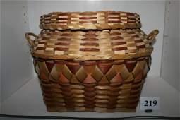 219 Square Plaited Splint Basket