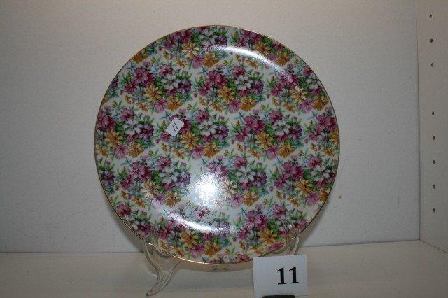 "11: 10 1/4"" Chintz Type Plate"