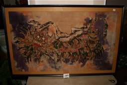 219: Oriental Silk painting (Matese?)