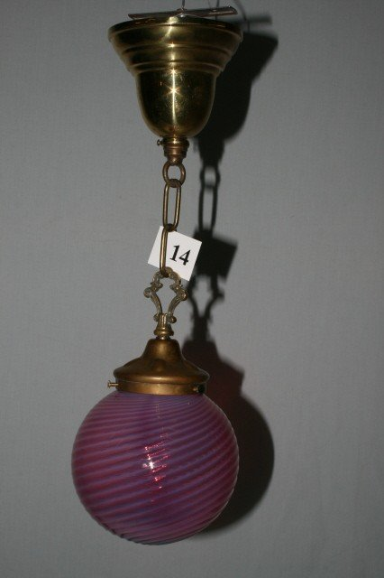 14: Hall Fixture with Opalescent Globe