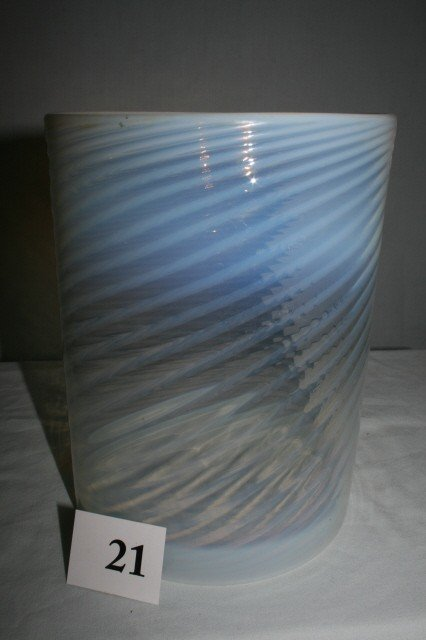 21: Opalescent Swirled Hall Light Shade
