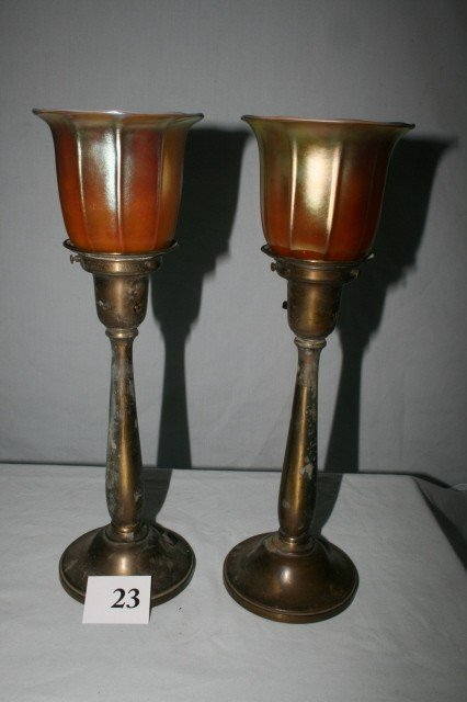 23: Pair of Candelabra Table Lamps
