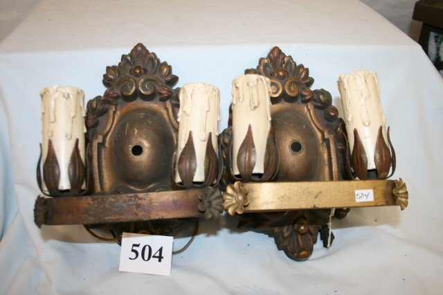504: Pair of Candelabra Sconces