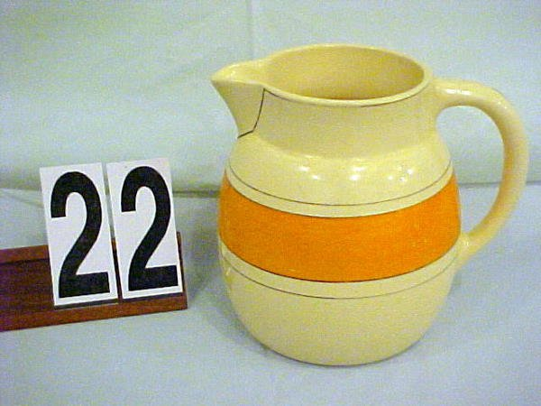 22: Roseville UTILITY WARE 7 in. pitcher