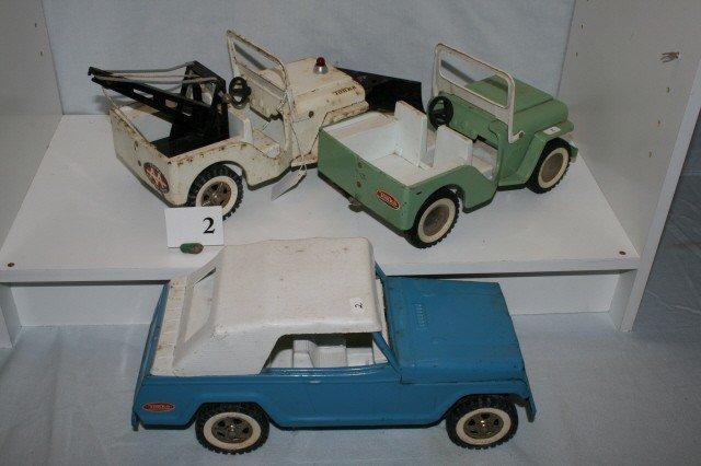 2: 3  Tonka Jeeps