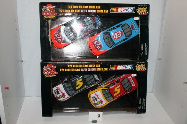 9: 2 Boxes of Stock Cars