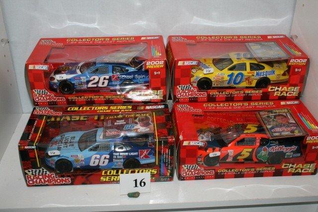 16: (4) Racing Champions Cars