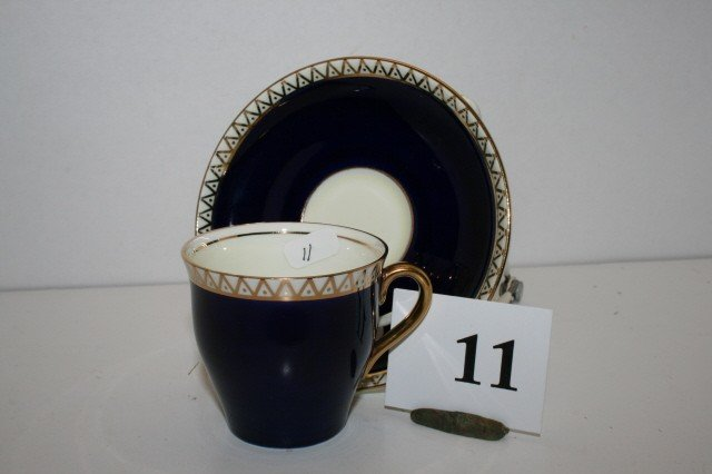 11: Royal Blue Mini Cup & saucer