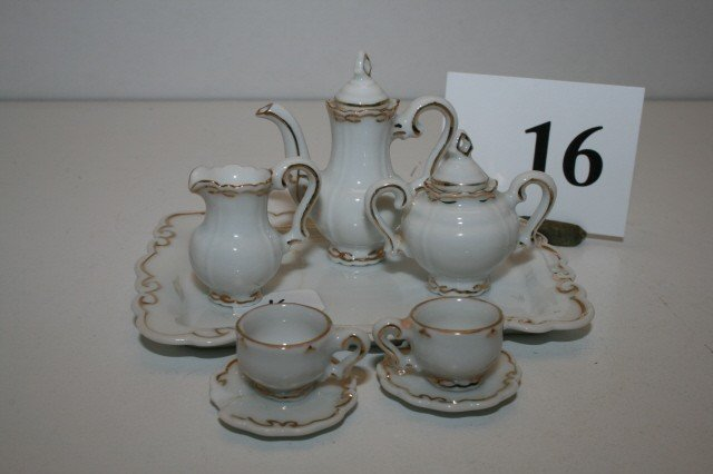 16: 8 Pc. Miniature Tea Set