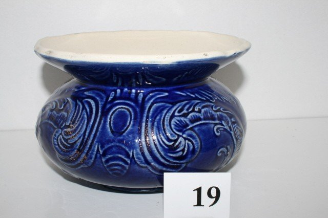 "19: 5"" Cobalt Blue Spittoon"