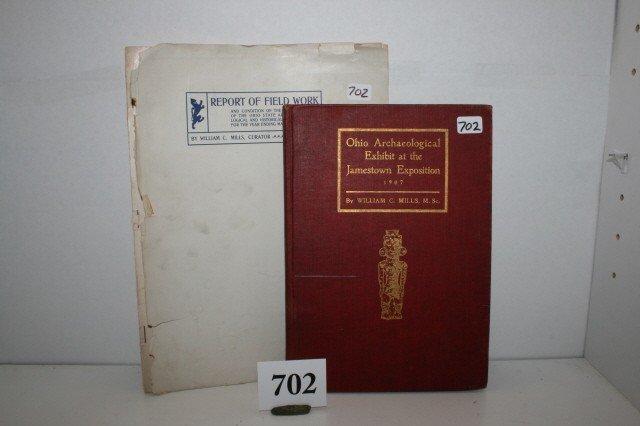 """702: 2 Books: """"Ohio Archaeological"""