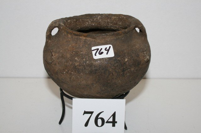764: Opossum Effigy Pottery Vessel