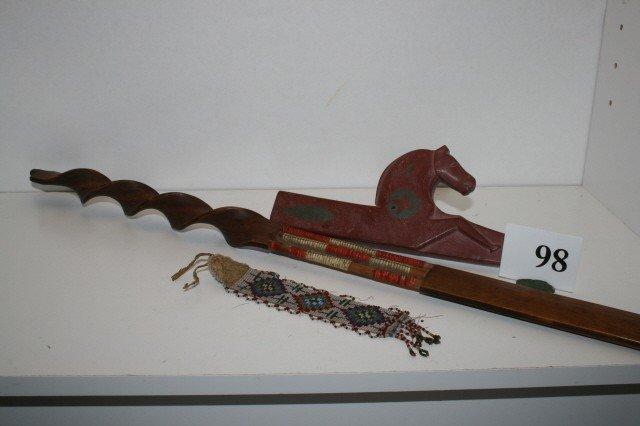 98: Catlinite Horse Effigy Pipe