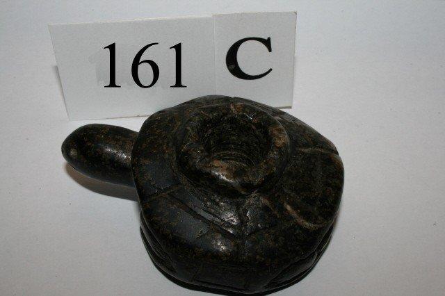161C: Chlorite Turtle Effigy Pipe