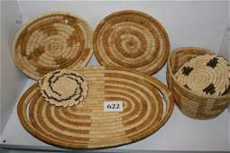 622: 6 Papago Indian Baskets