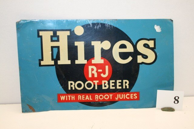 8: Hires R J Root Beer Sign
