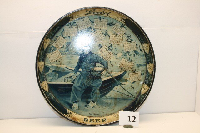 12: Goebel Beer 1913 Serving Tray
