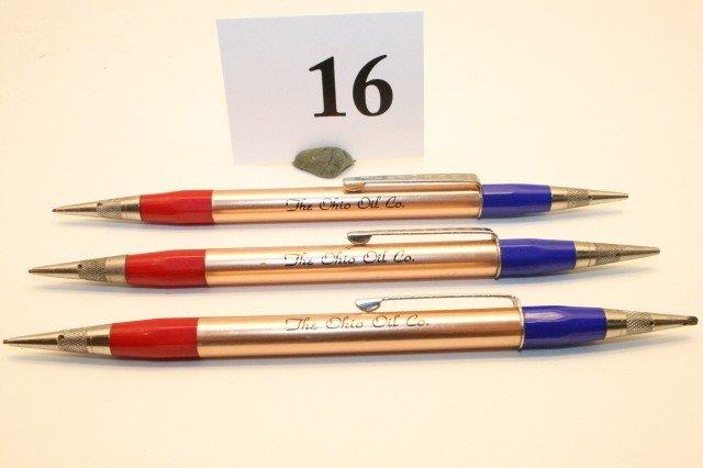 16: 3 Durolite Ohio Oil Company pencils
