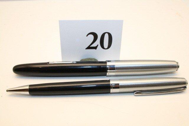 "20: Waterman's ""Taperite"" Pen/Pencil Set"