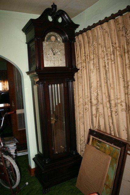 117: Mahogany Case Grandfather Clock