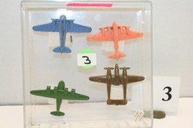 3: 1 Metal Sea Plane, B-28 Metal Plane, 2 Plastic Plane