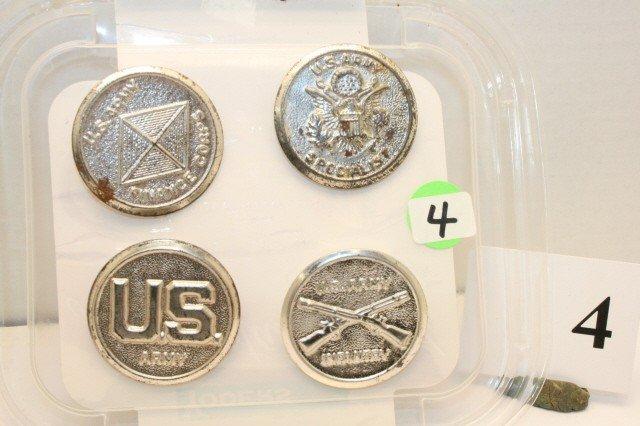 4: 4- Metal Badges