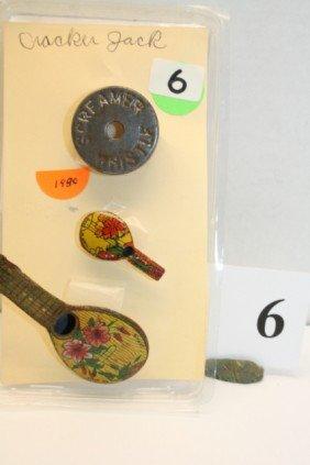 6: 3 Metal Whistles Year 1930