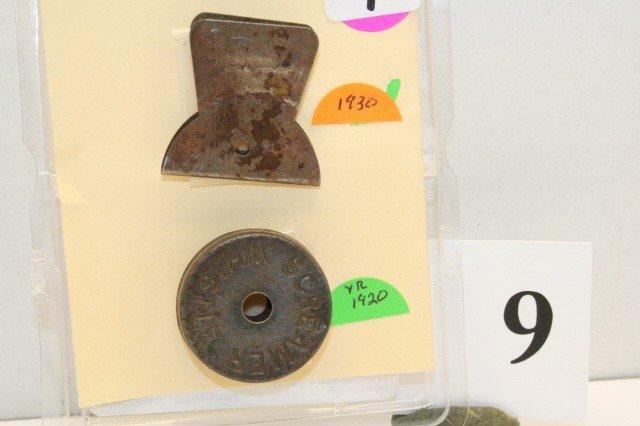 9: 2 Metal Whistles Year 1920-1930