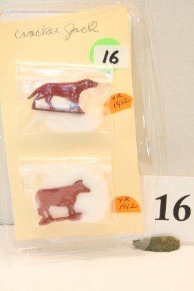16: 1 Dog Metal, 1 Cow Metal. Year 1912-1912