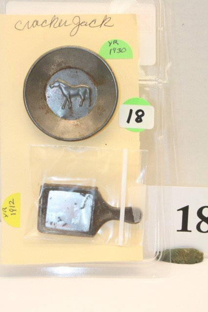 18: Metal Plate year 1930 and Hand Mirror Year 1912