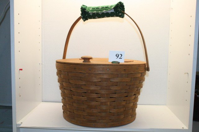 92: Longaberger Sewing Basket