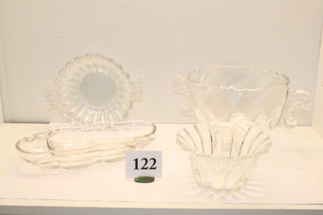 122: 4 pcs. of Heisey Dishes