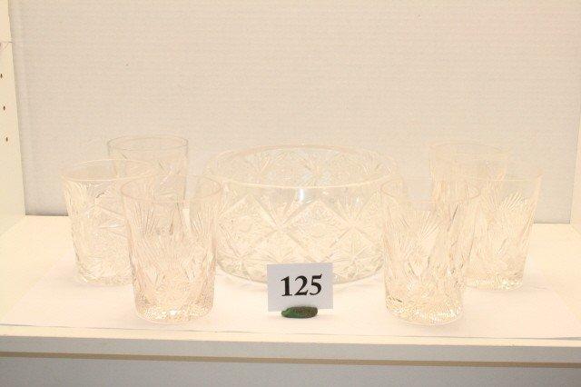 125: Cut Glass Center Bowl