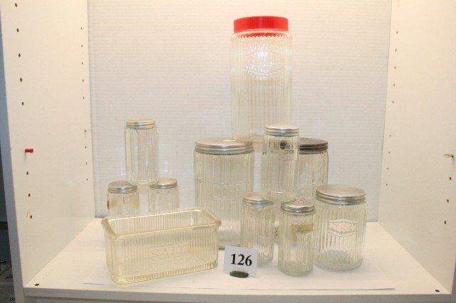 126: Kitchen Cupboard Condiment Jars