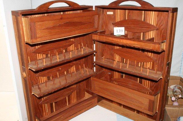 139: Wooden Sewing Caddie
