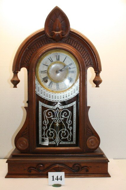 144: Walnut Victorian Kitchen Clock