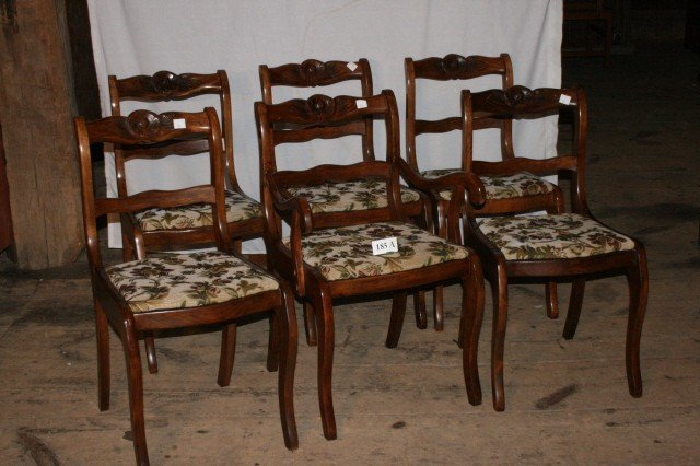 185a 6 Duncan Phyfe Rose Back Chairs Will Not Ship