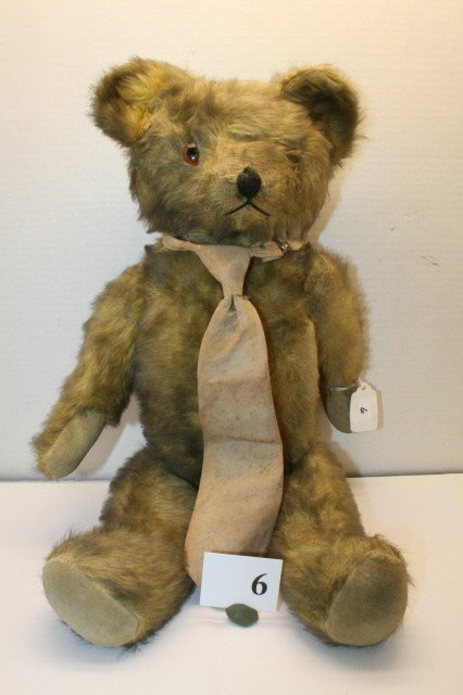 6: Jointed Gold Mohair Bear