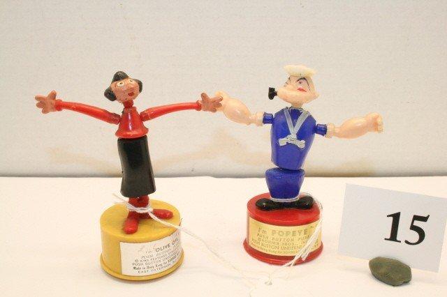 15: Popeye & Olive Oyl push up toys