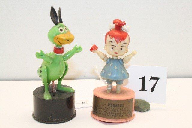 17: Pebbles & Dino push up toys