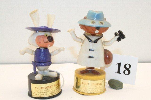 "18: ""Ricochet"" Rabbit & ""Secret"" Squirrel push up toys"
