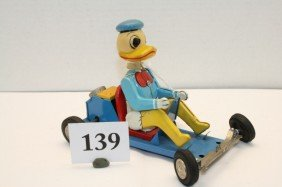 Linemar Donald Duck Go Cart